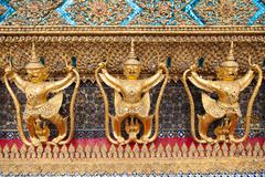 Animals in thailand stucco literature. Stock Photos