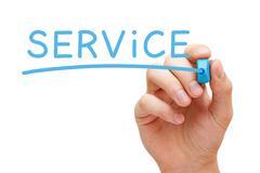 service blue marker - stock illustration