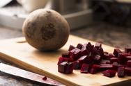 Stock Photo of chopped beetroot