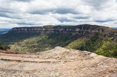 landslide lookout in blue mountains australia - stock photo