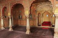 Stock Photo of private audience hall, junagarh fort, bikaner, india