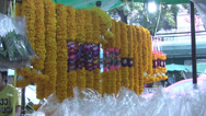 Stock Video Footage of Flower Garlands Hang
