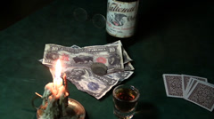 Cowboy , gambler robery Stock Footage