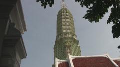 Stupa Wat Ratchaburana p295 Stock Footage