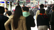 Stock Video Footage of Hong Kong Canton Rd Crowded Chinese Shoppers time lapse, Winter