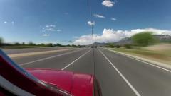 Sandia Mountain time-lapse drive, New Mexico Stock Footage