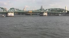 River Taxi Near Memorial Bridge p290 Stock Footage