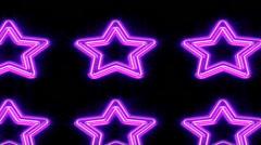 Purple neon stars background Stock Footage