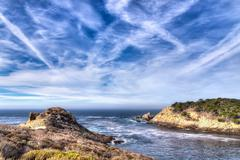 cyprus cove at point lobos park - stock photo