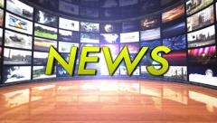 NEWS Text in Monitors Room, Still Text, Loop - stock footage