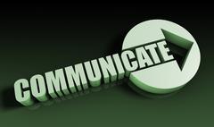 communicate - stock illustration