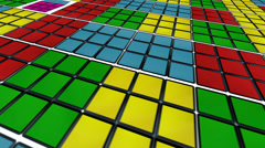 Spining rubik´s cubes back ground Stock Footage