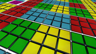 Stock Video Footage of spining rubik´s cubes back ground