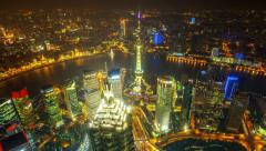 China Shanghai, day to night ( Zoom in time-lapse ) Stock Footage