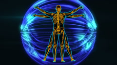 Vitruvian man Stock Footage