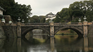 Stock Video Footage of Japan-Imperial Palace-Nijubashi Bridge-2