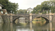 Stock Video Footage of Japan-Imperial Palace-Nijubashi Bridge