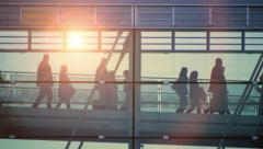 People silhouette. persons clients customers team group. company professional Stock Footage