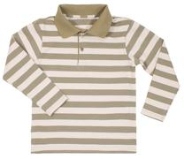 Striped polo shirt for children isolated on white Stock Photos