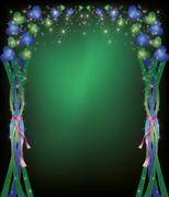 Colorful celebratory background with decorations Stock Illustration