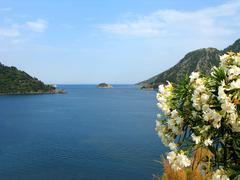 island in aegean sea landscape - stock photo