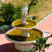 fountain on the terrace - stock photo