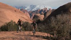 Mountain bikers moab utah adventure #6 Stock Footage