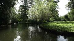 Boat trip, Spreewald 02 Stock Footage
