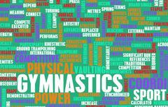 Stock Illustration of gymnastics