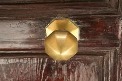 A knocker on a door in Medina - stock photo