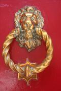 A knocker on a door in Medina Stock Photos