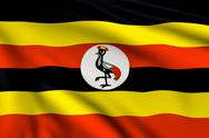 Stock Illustration of flag of uganda