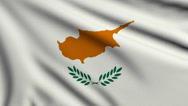 Stock Video Footage of Flag of Cyprus looping