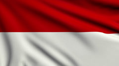 Flag of Indonesia looping Stock Footage
