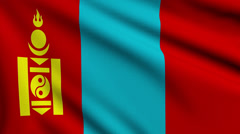 Flag of Mongolia looping Stock Footage