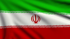 Flag of Iran looping Stock Footage