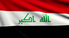 Flag of Iraq looping Stock Footage