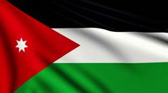 Flag of Jordan looping Stock Footage