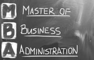 Stock Photo of master of business administration concept