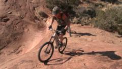 Mountain bikers moab utah adventure #4 Stock Footage