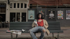 Homeless In Amsterdam Stock Footage