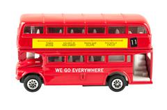 Lelu malli punainen kaksikerroksista linja Kuvituskuvat