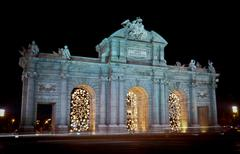 Puerta de Alcala in Madrid, Spain Stock Photos