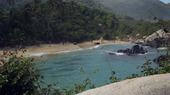 Beach at Tayrona National Park, Colombia Stock Footage