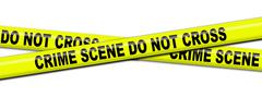 crime scene tape. - stock illustration
