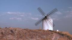 Consuegra windmill, Spain Stock Footage