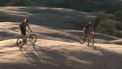 Mountain bikers moab utah adventure #3 Stock Footage