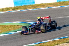 team toro rosso f1, jean eric vergne, 2012 - stock photo