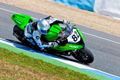 elena rosell pilot of stock extreme of the cev championship - stock photo