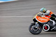 Hugo martinez pilot of moto2 in cev Stock Photos